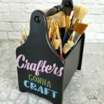 Utensil Caddy Paint Brush Holder (And More Craft Storage Ideas)