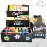 Organizing Craft Supplies with a Paint Brush Holder