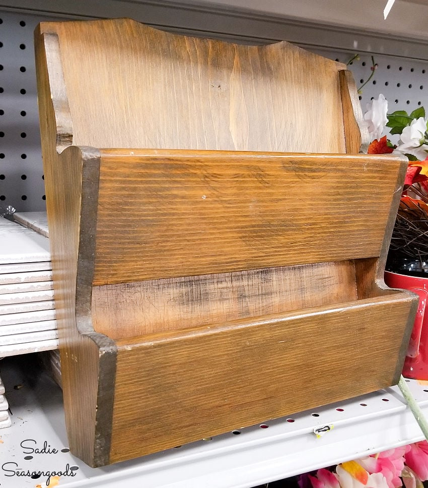 wooden mail sorter