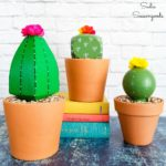 Cactus Decor with a Boho Vibe from Post Caps and Wood Finials