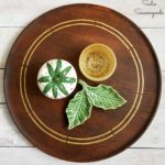 Mid Century Modern Makeover on a Wooden Lazy Susan