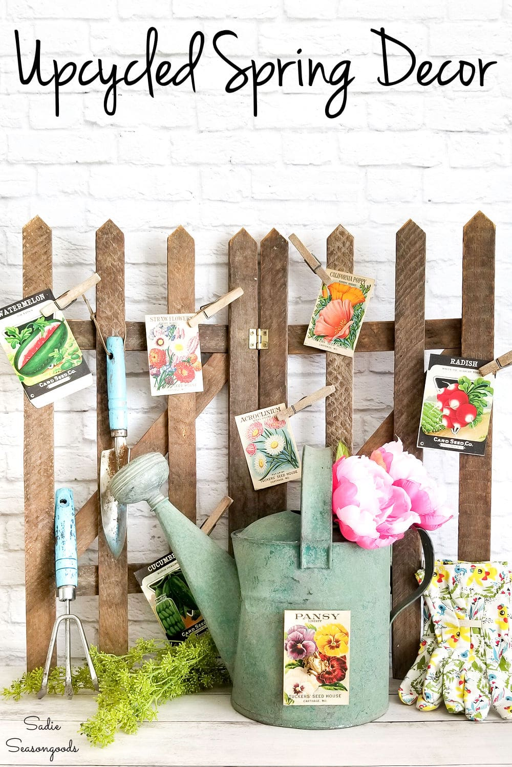 Easy upcycling ideas for Spring decor