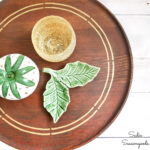 Faking a Metal Inlay in Wood on a Wooden Lazy Susan