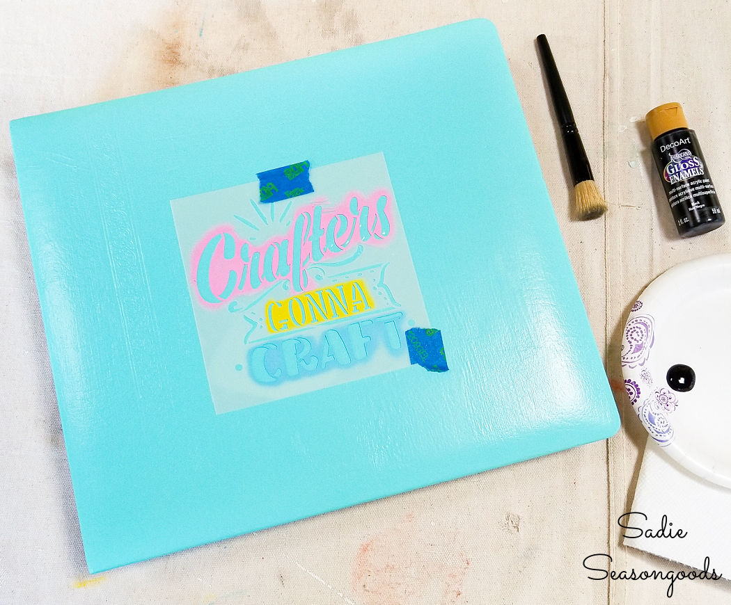 repurposing project for craft paper storage