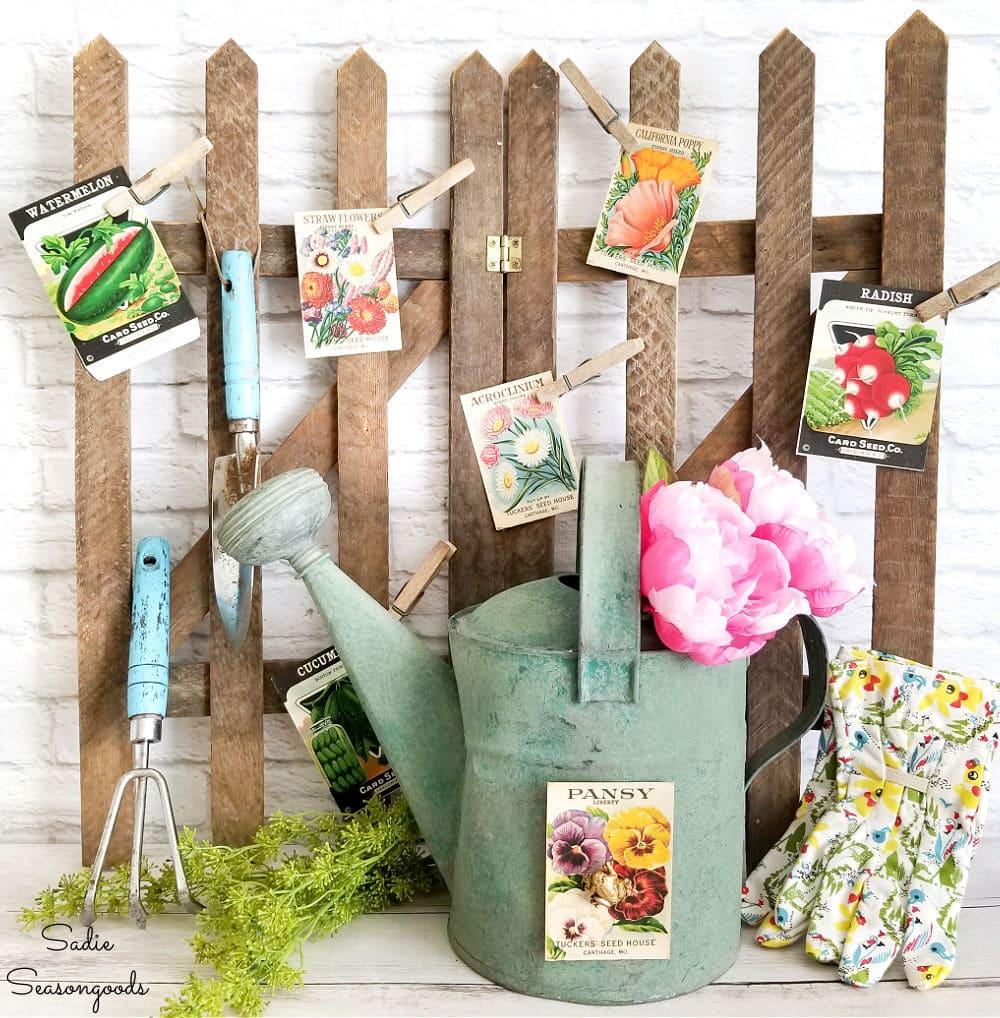 Vintage gardening decor for Spring