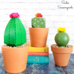 Wooden Cactus Decor from Post Caps
