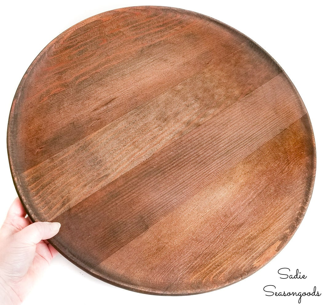 wooden lazy susan to be stenciled
