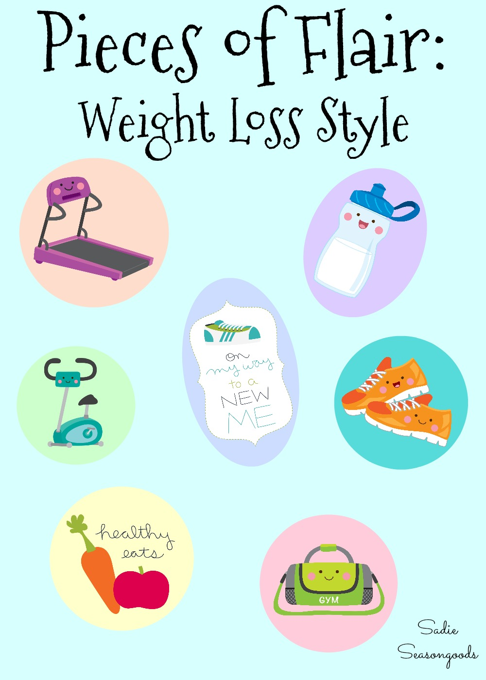 Pieces of Flair for Weight Loss Motivation and Encouragement - My Weight Loss Journey and Secondhand Slim Down - by Sadie Seasongoods