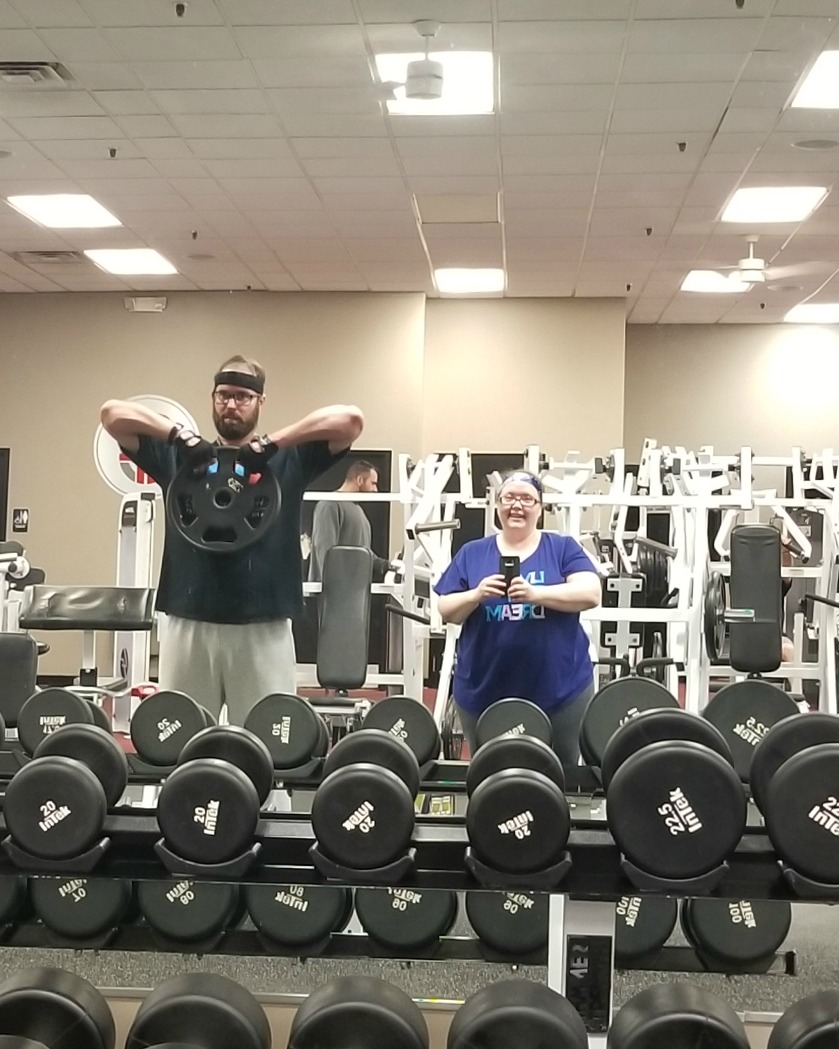 Working out with my husband at Crush Fitness in Greenville, SC - My weight loss journey - by Sadie Seasongoods