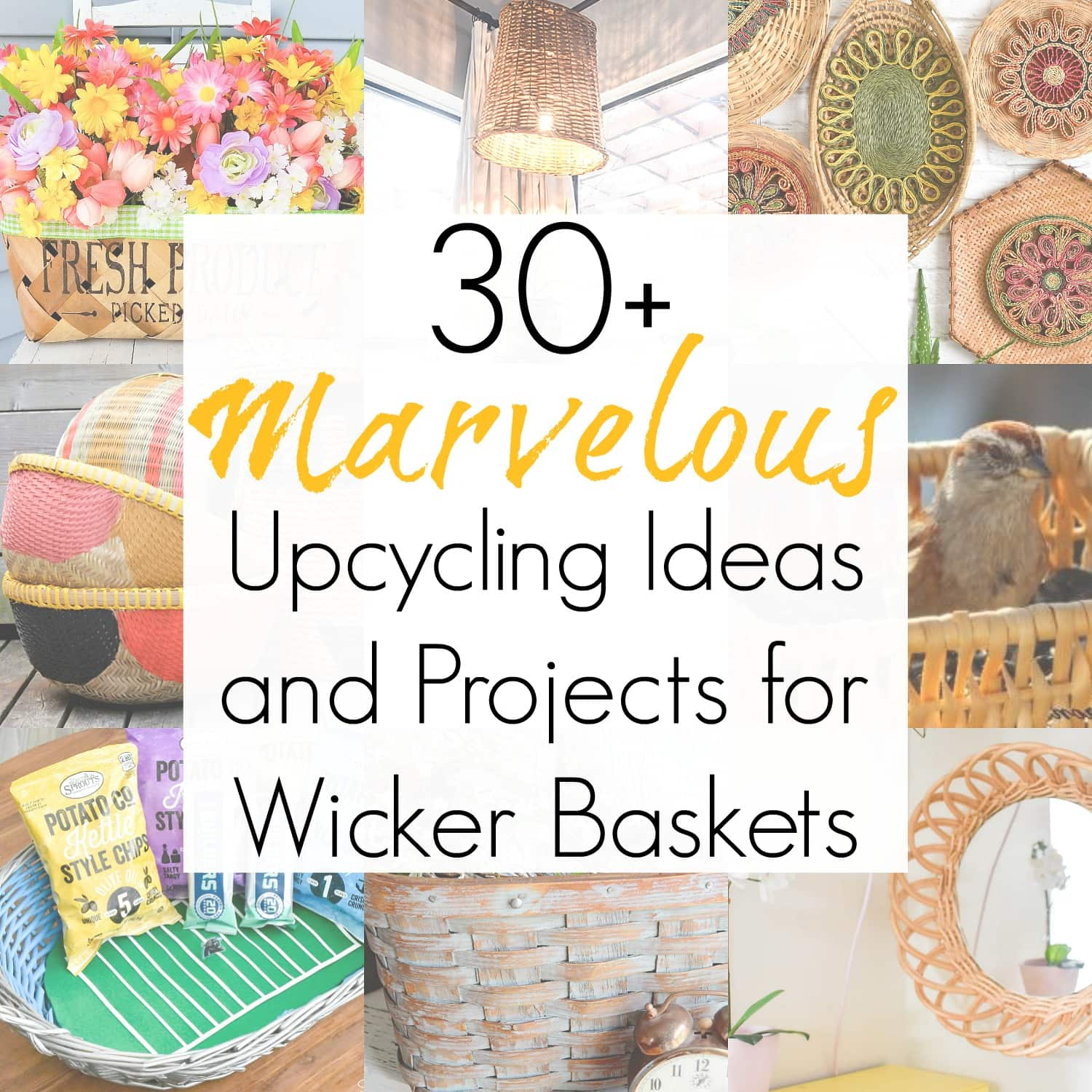 30+ Upcycling Ideas for Wicker Baskets