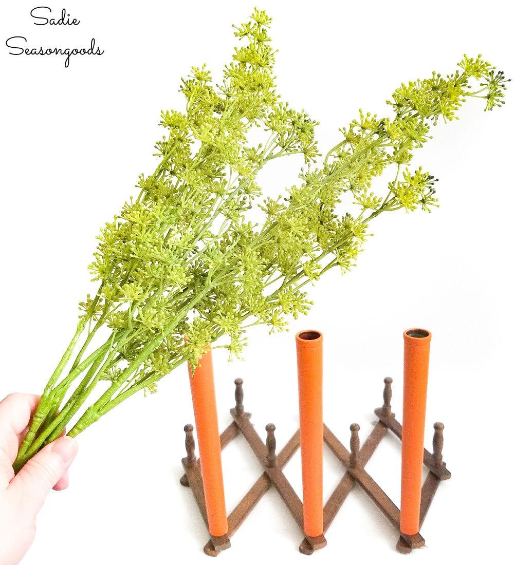 Green tops for decorative carrots