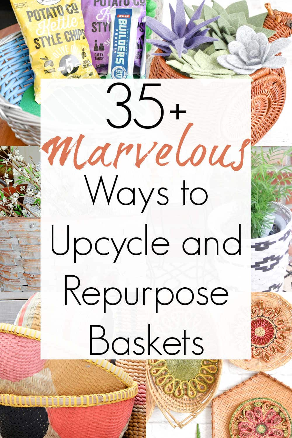 how to upcycle wicker baskets