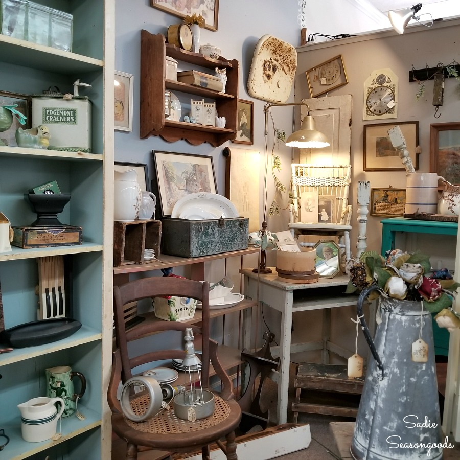 Antiques Hendersonville NC at The Garage on 25 for things to do in Hendersonville NC by Sadie Seasongoods