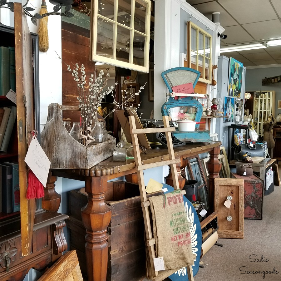 The Garage at 25 is one of the best antique stores in Hendersonville NC by Sadie Seasongoods