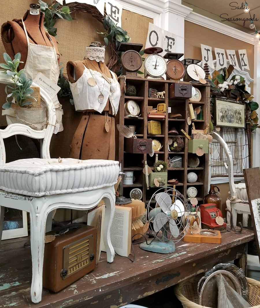 Things to do in Hendersonville NC at The Garage on 25 for antiques and vintage shopping by Sadie Seasongoods