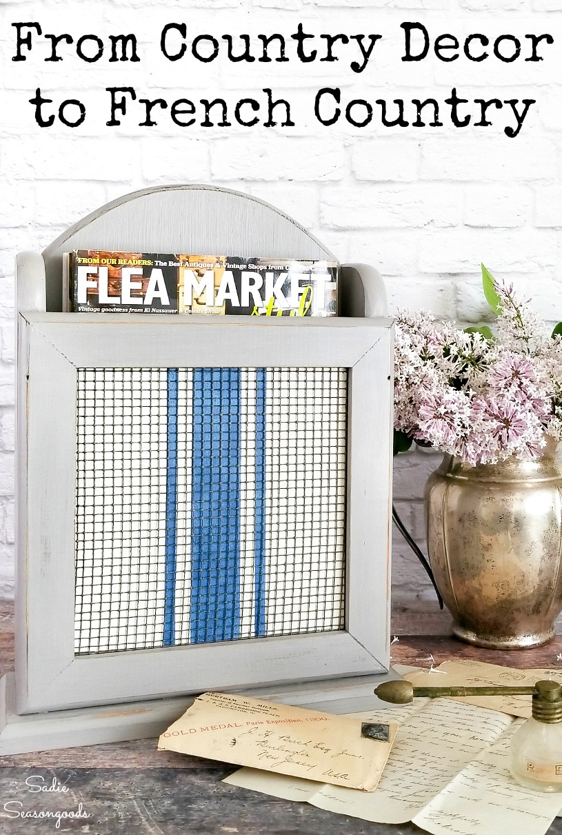 Getting the look of French farmhouse style on country decor