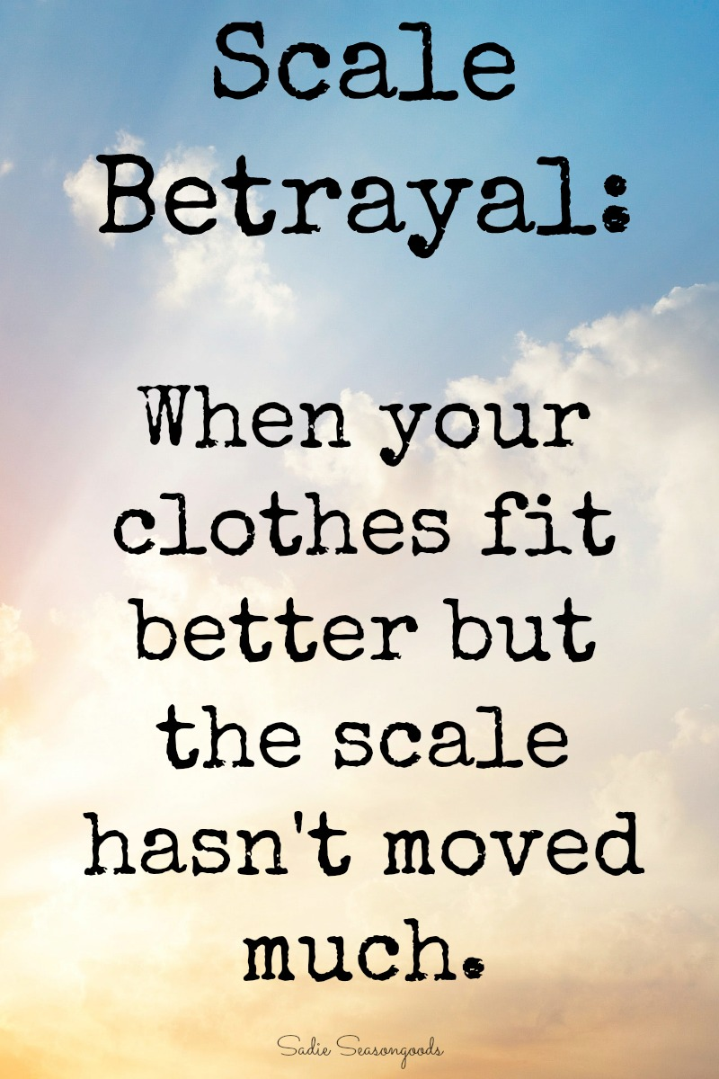 Scale Betrayal - when the scale doesn't reflect how much your body has changed - by Sadie Seasongoods