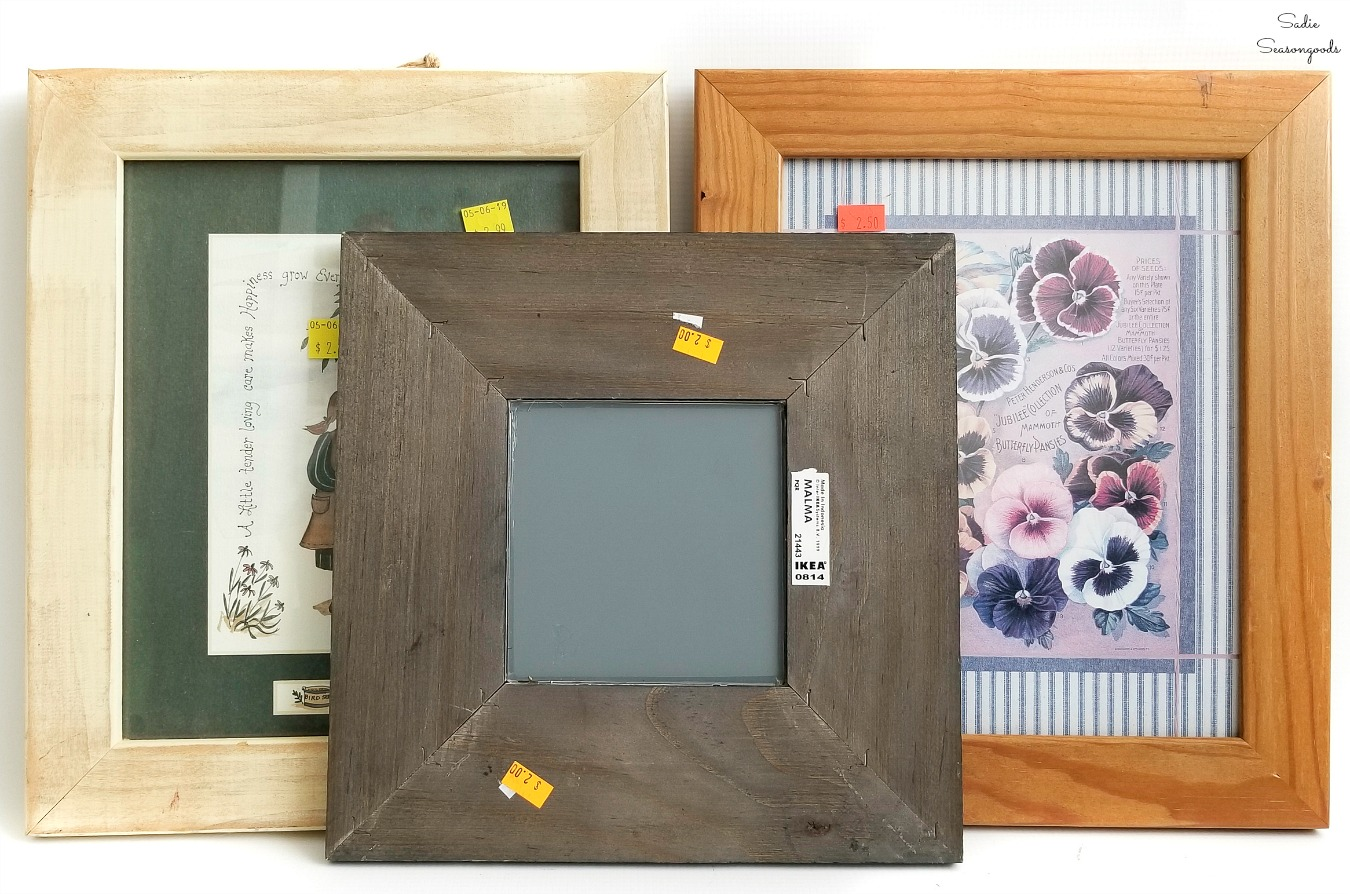 Wide and flat wooden picture frames for painting