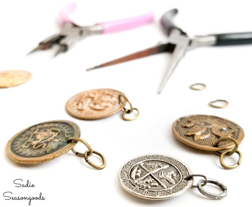 boho diy with coin charms
