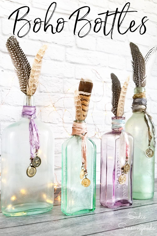 bottle craft and boho diy