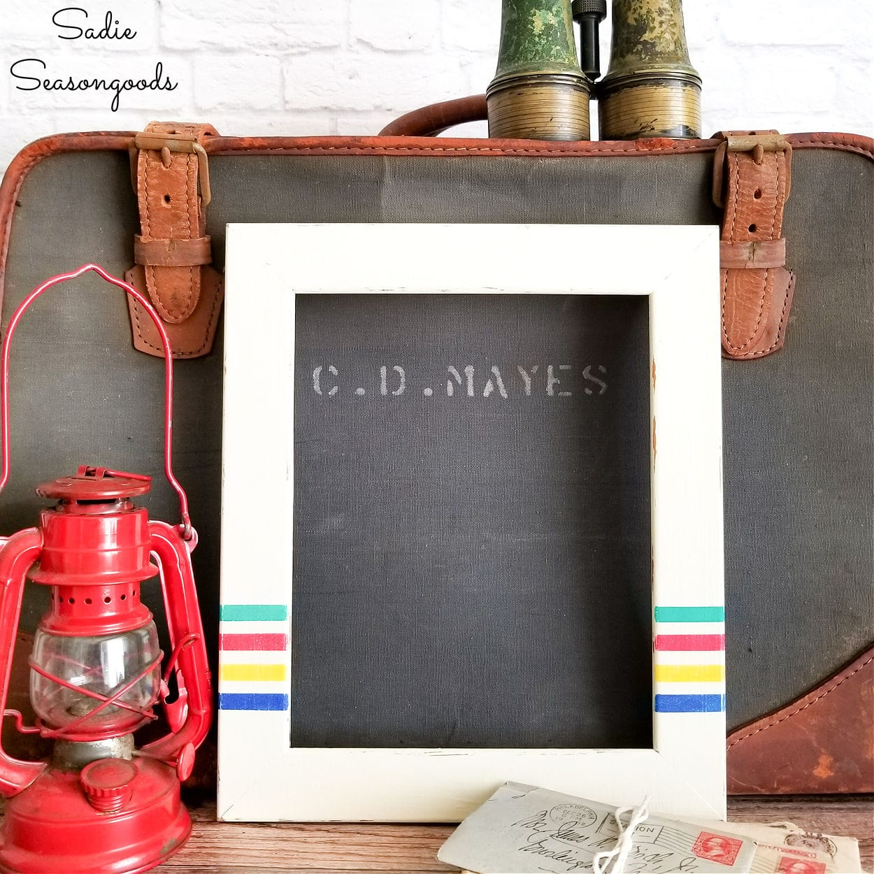 Camping Decor with Repurposed Picture Frames