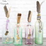 DIY Boho Decor with Bottle Charms from Metal Buttons