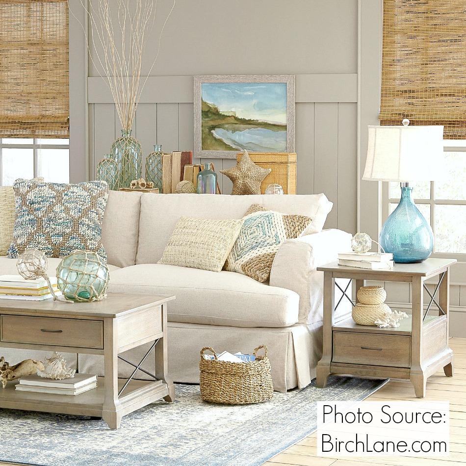 Coastal room decor by Birch Lane