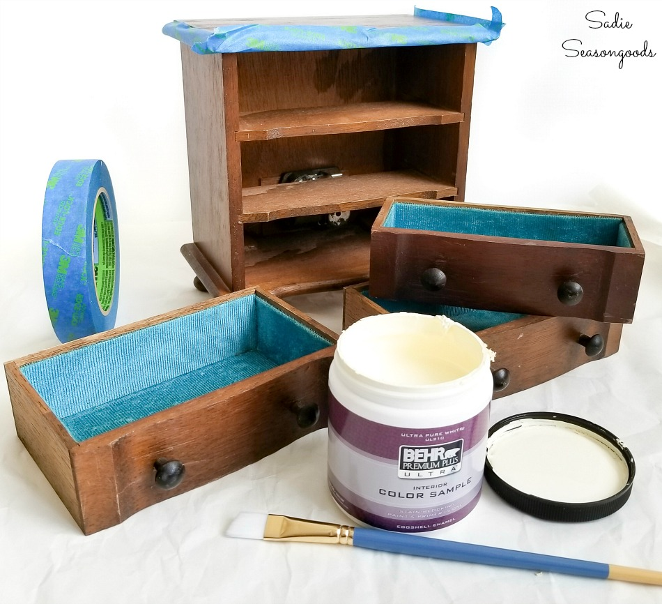 Painting a mini chest of drawers to match a bedroom suite
