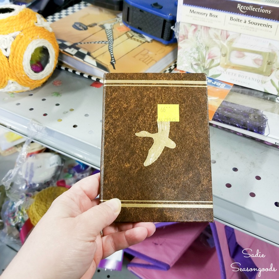 Telephone address book at the thrift store for upcycling into a password book