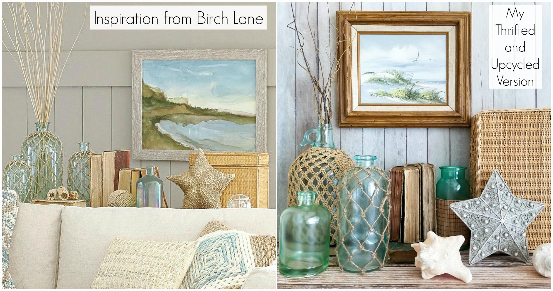 Thrift the Look for coastal cottage decor or beach house decor