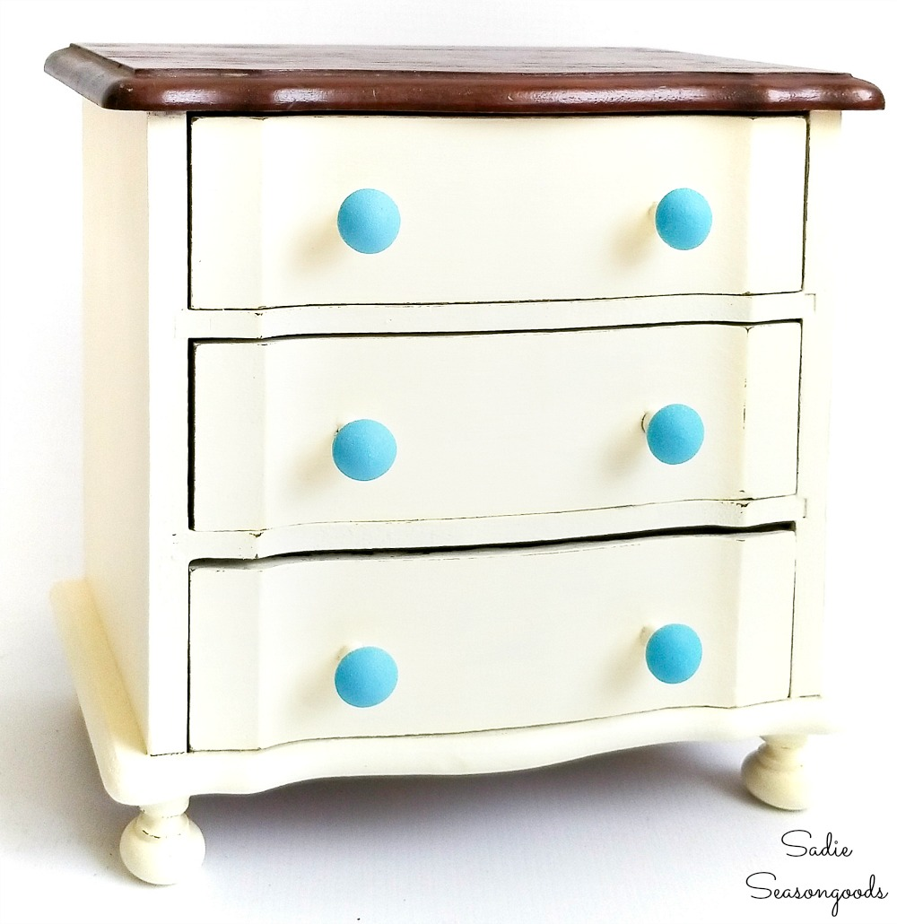 Upcycling a jewelry dresser and wooden music box