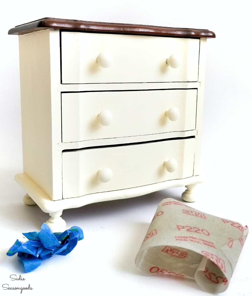 Upcycling a jewelry dresser to match a bedroom suite