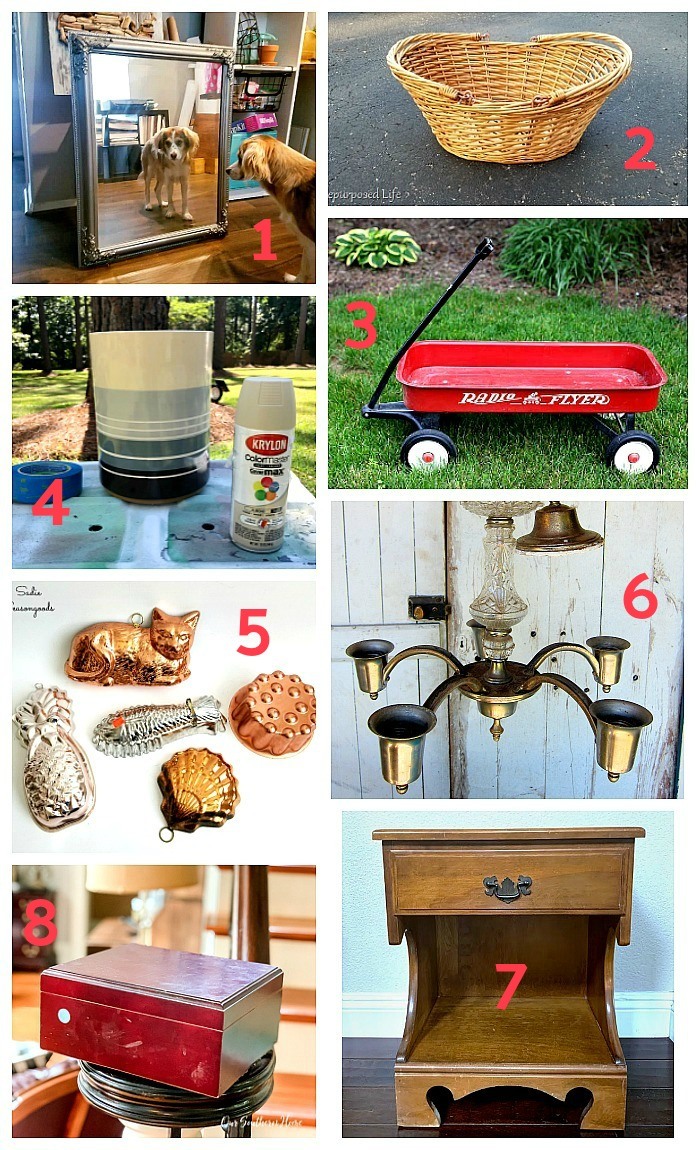 Upcycling ideas for thrift store items by the Thrift Store Decor Team, the best repurposing bloggers around - June 2019