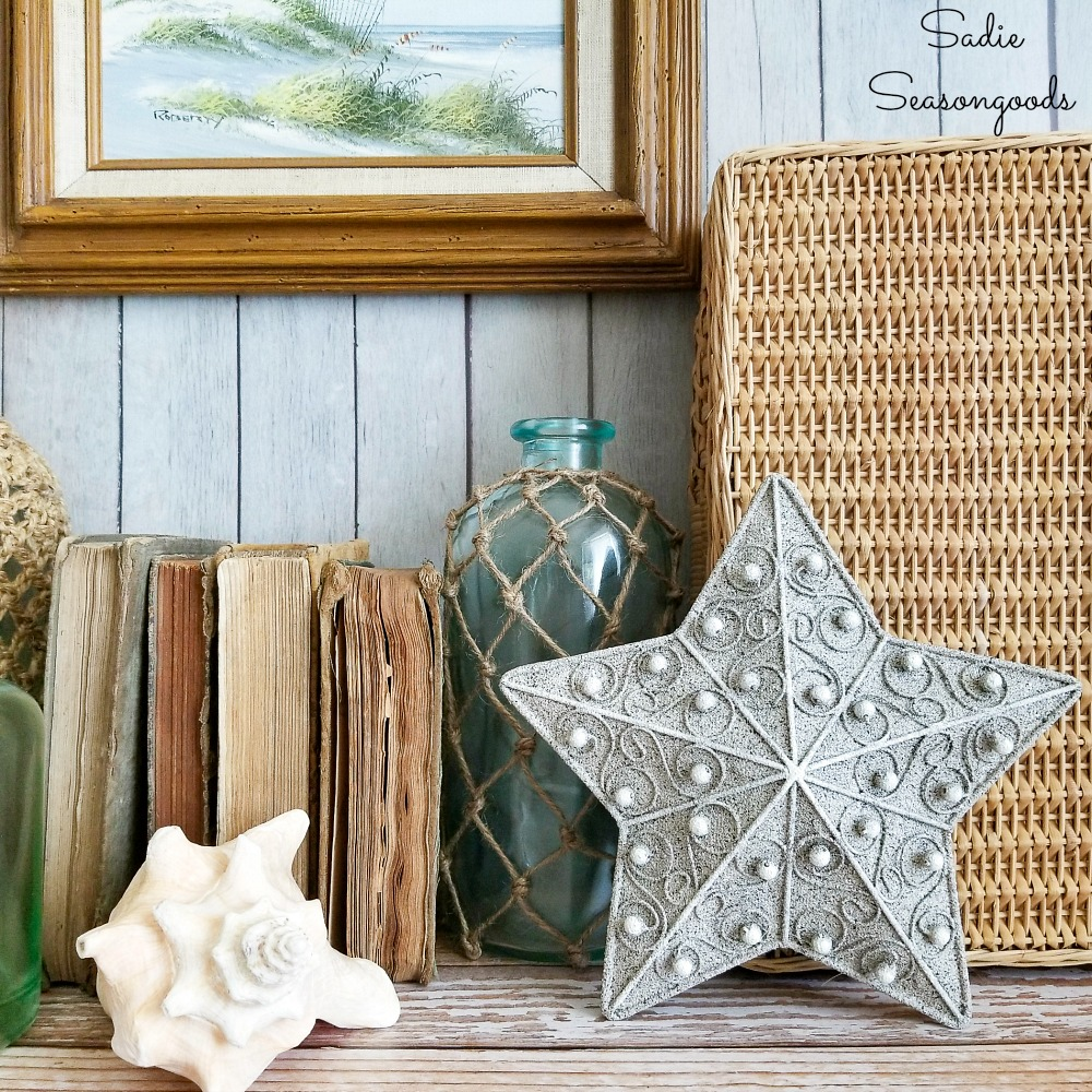 Starfish Decor for a Beach House by Upcycling a Christmas Tree Topper