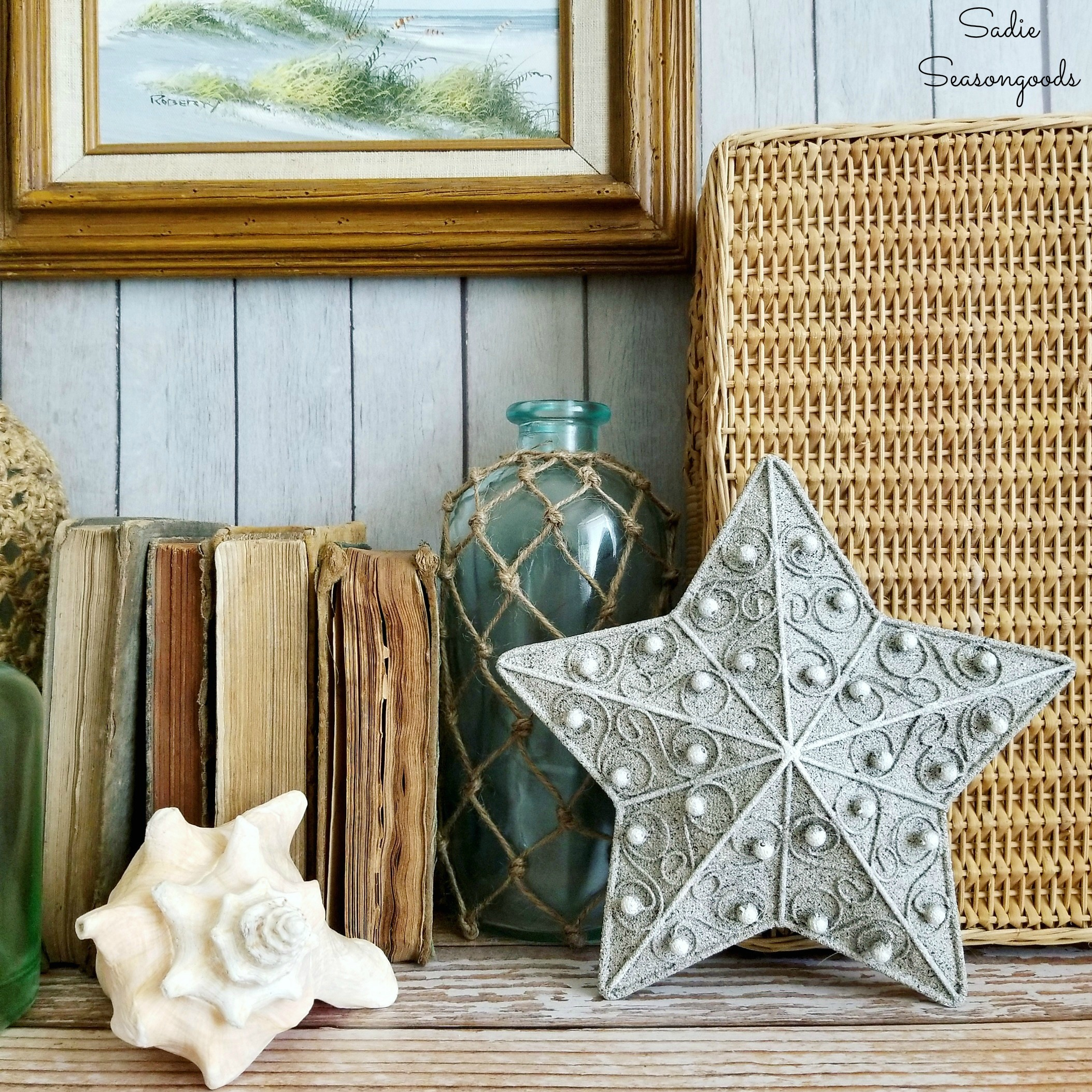 Starfish Decor from a Christmas Tree Topper