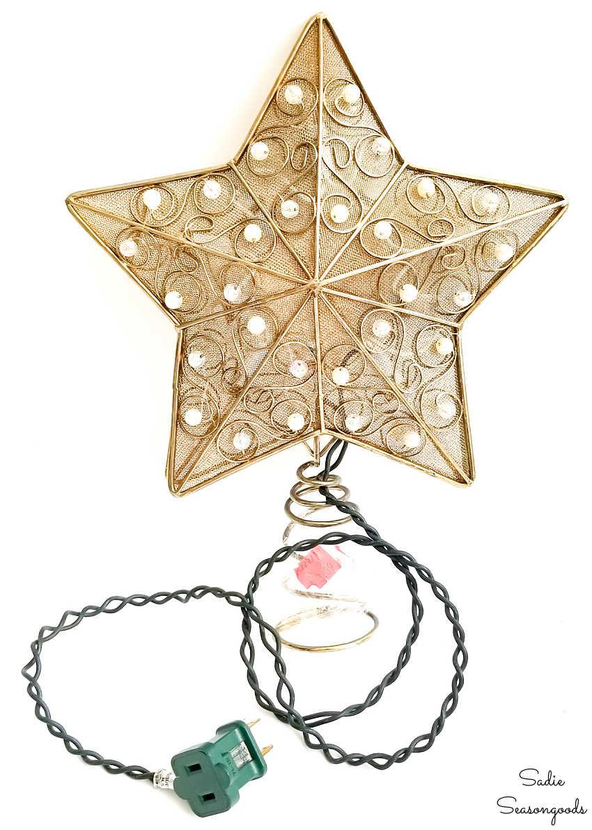 lighted star tree topper