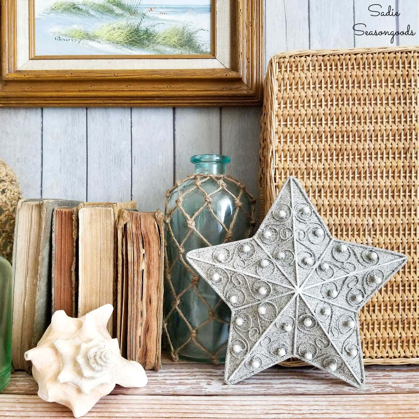 Starfish Decor from a Lighted Star Christmas Tree Topper