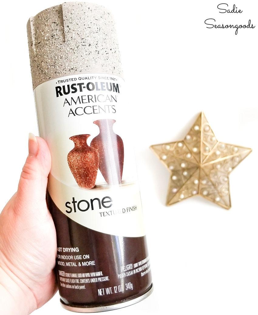 stone spray paint for starfish decor