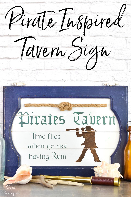 tavern sign for a pirate pub