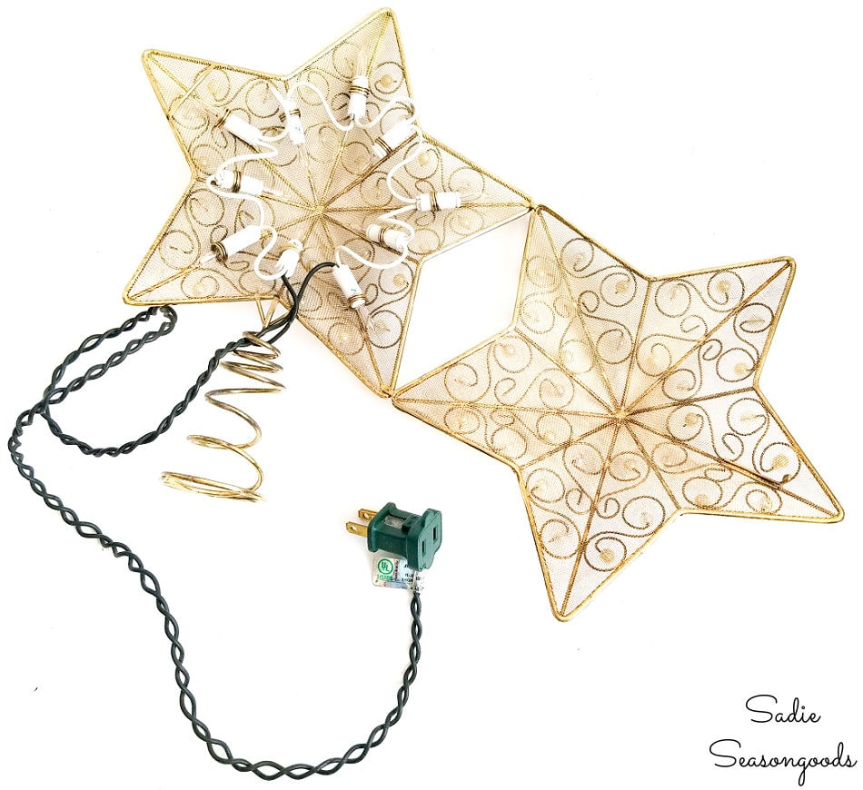 upcycling a star tree topper as ocean decor