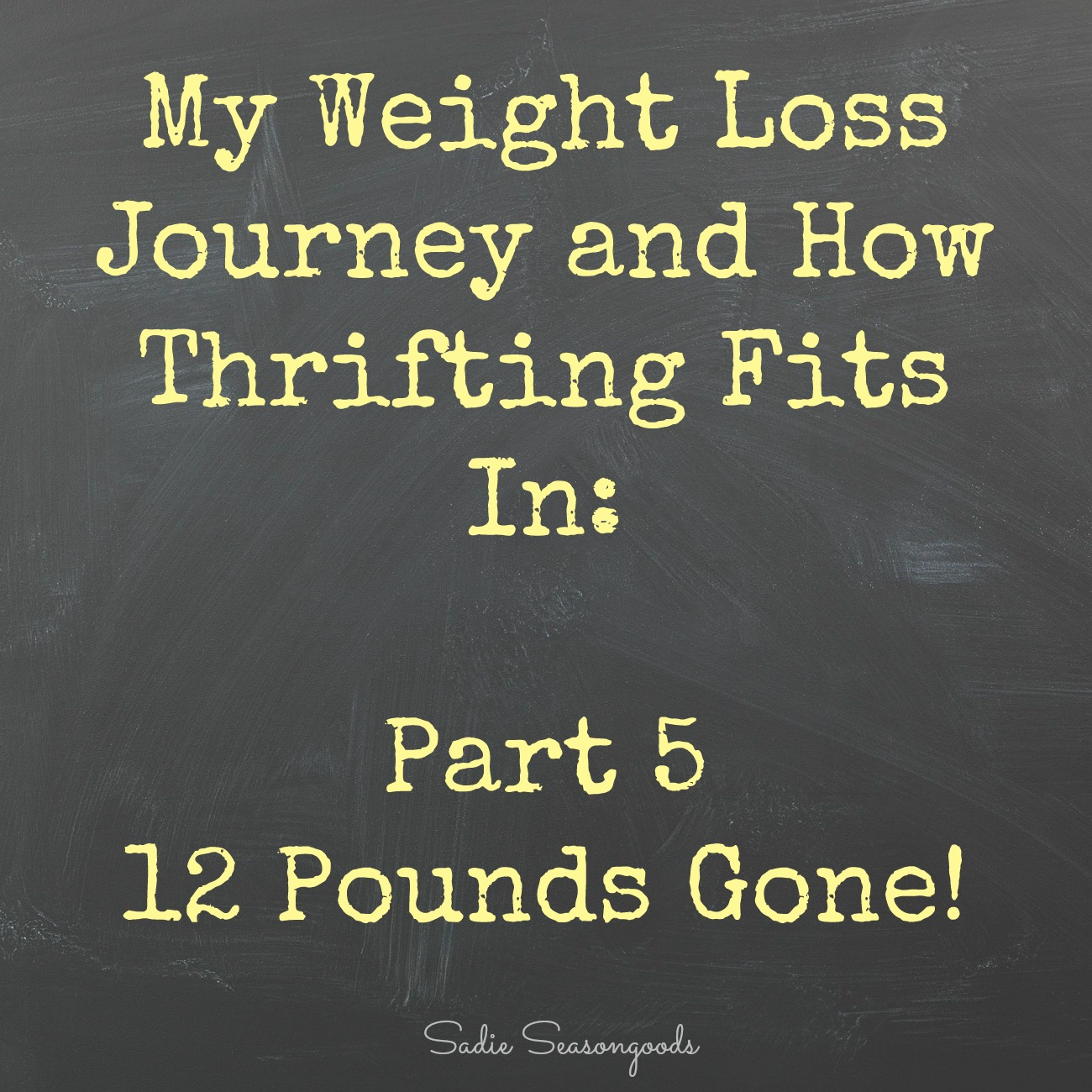 Secondhand Slim Down: Twelve Pounds Gone!
