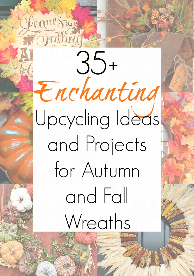 Upcycling projects for fall wreath ideas and fall door wreaths