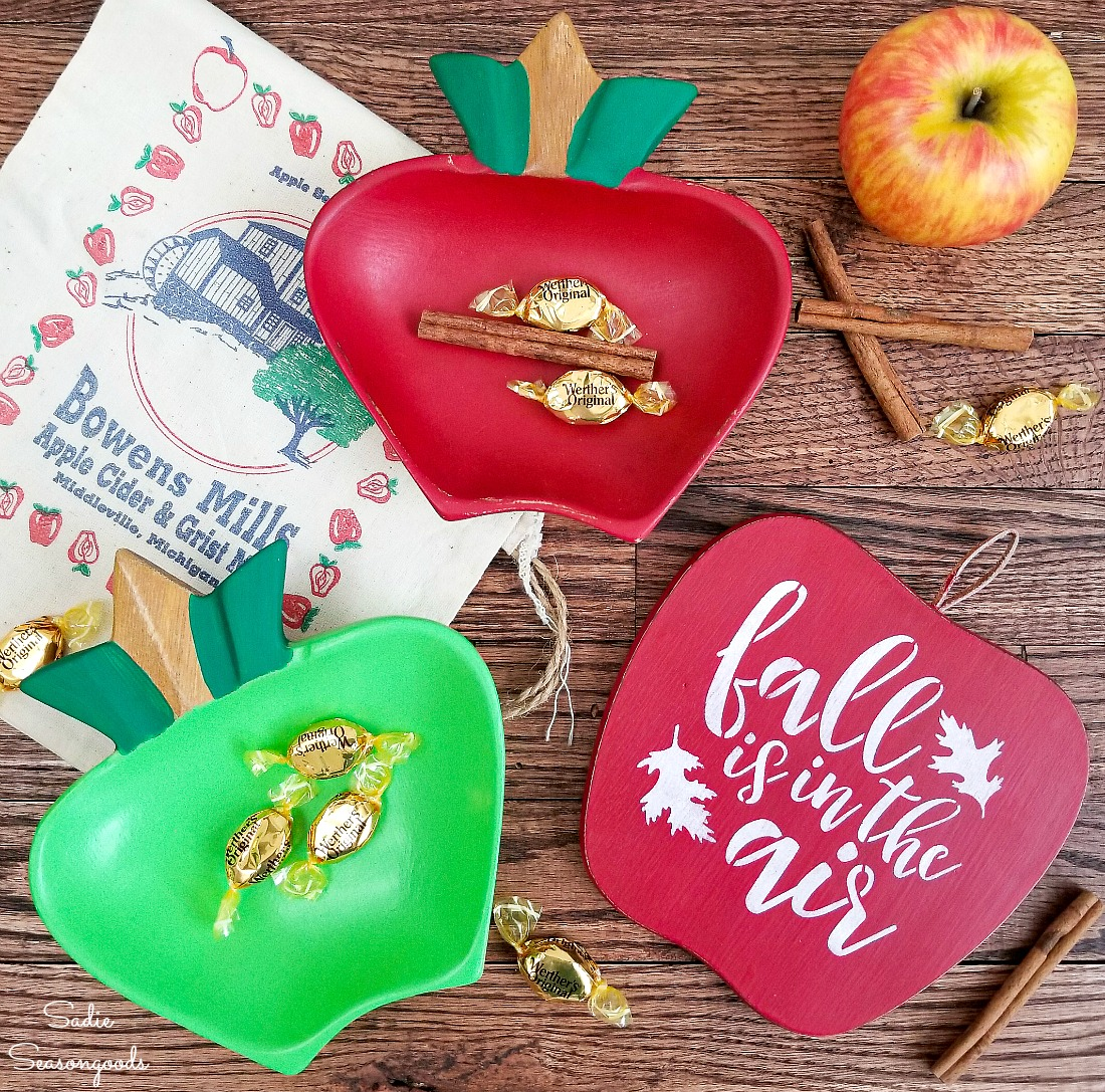 Fall Apples and Apple Decor from Monkey Pod Wood