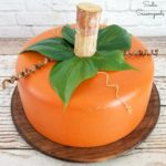 Pumpkin Decor and Cake Dome from a Wooden Bowl