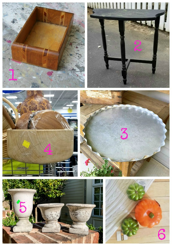 Upcycling ideas and amazing thrift store makeovers from the Thrift Store Decor Team of repurposing bloggers