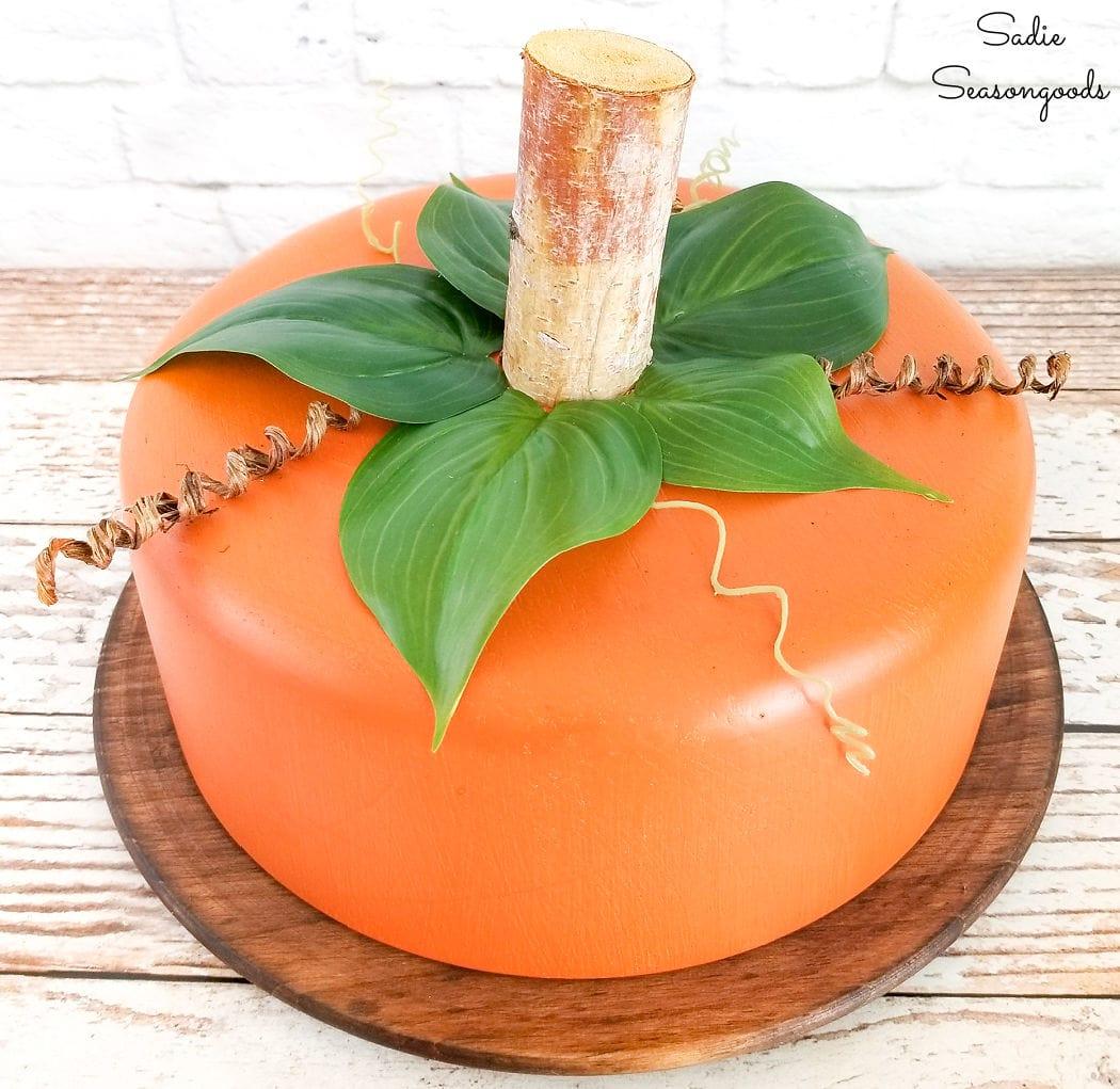 pumpkin centerpiece for fall party decor