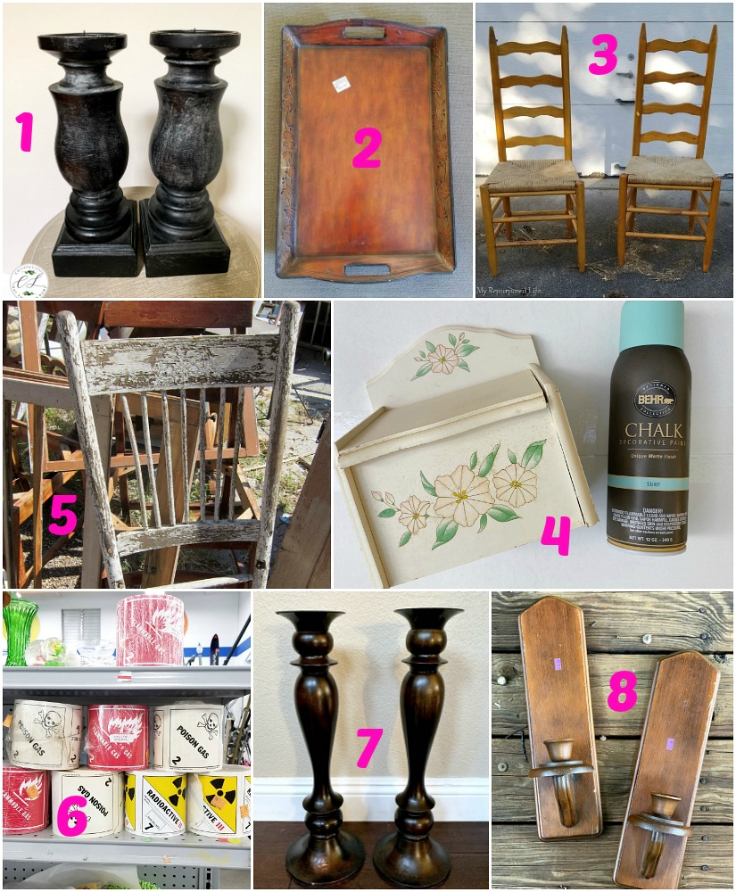 Thrift store upcycling projects and transformations by the best repurposing bloggers and best upcycling bloggers