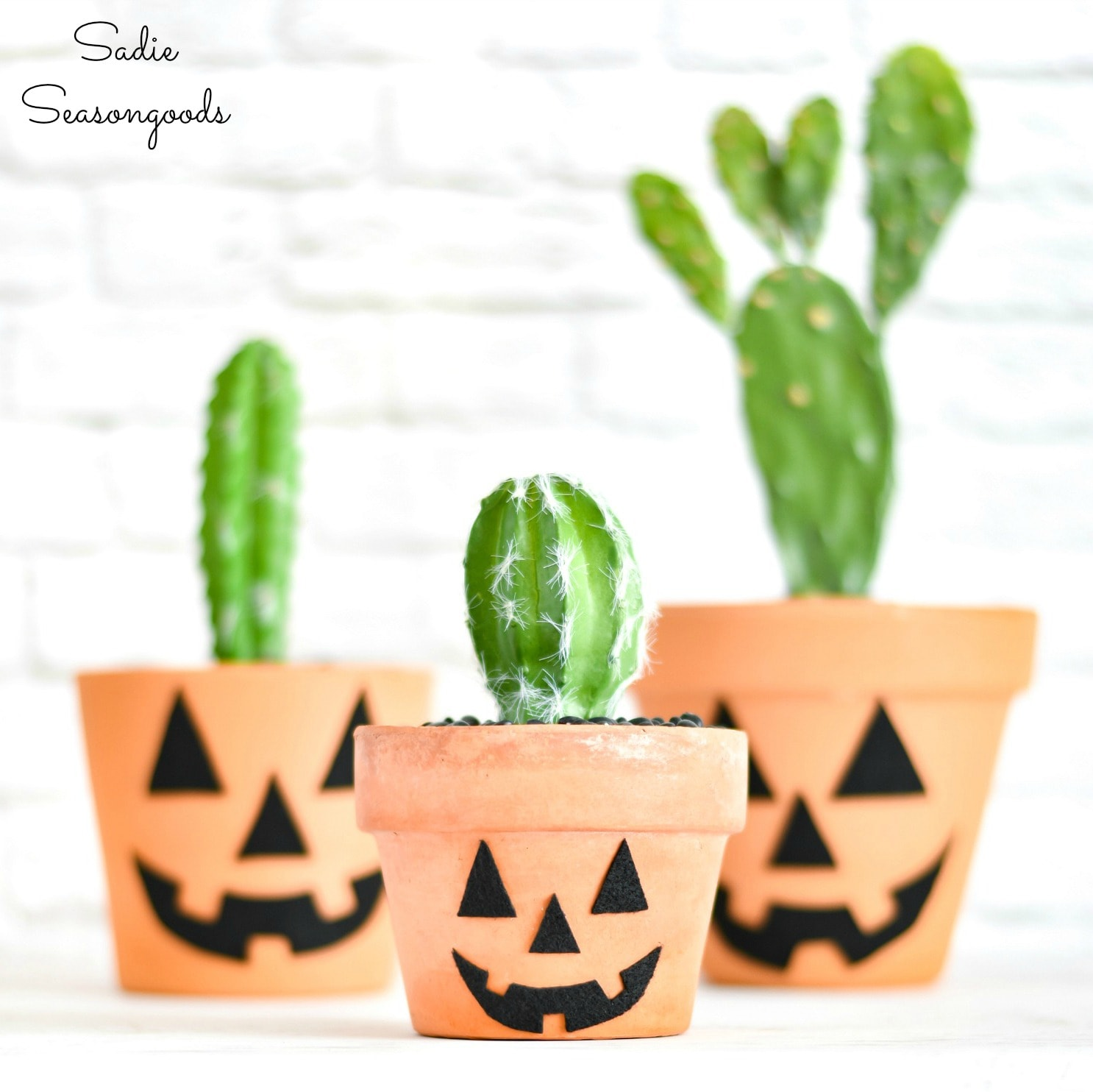 Terracotta jack o lantern for boho Halloween