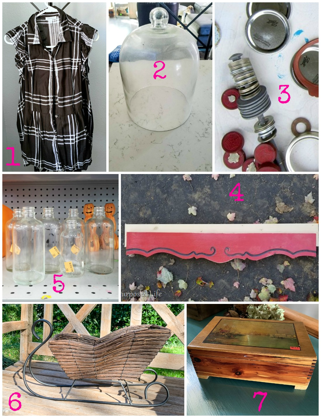 Thrift store makeovers and upcycling ideas for the best repurposing bloggers in November 2019