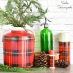 Faking a Skotch Kooler for Plaid Christmas Decor